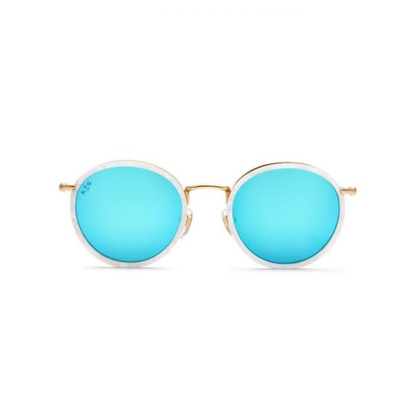 Kapten and Son Sunglasses - Amsterdam Pearl Blue Mirrored