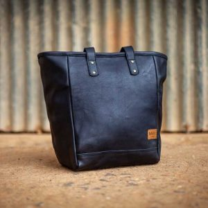 Hand Bag Black Leather